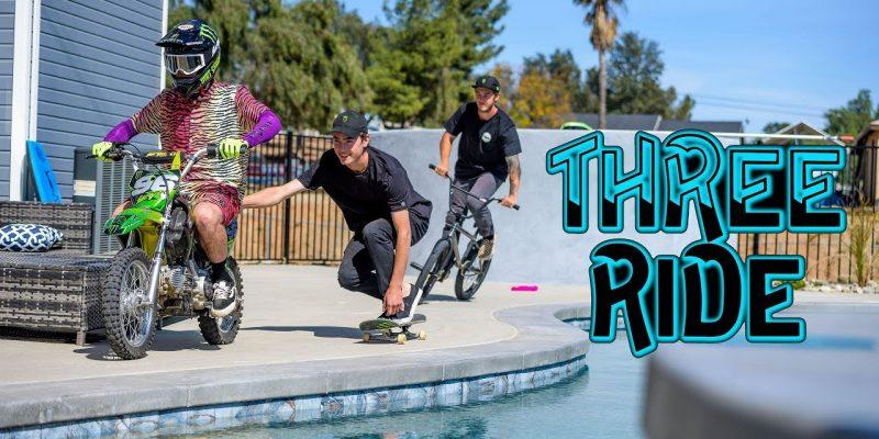 Pat Casey - Three Ride - Monster - Loked BMX magazine