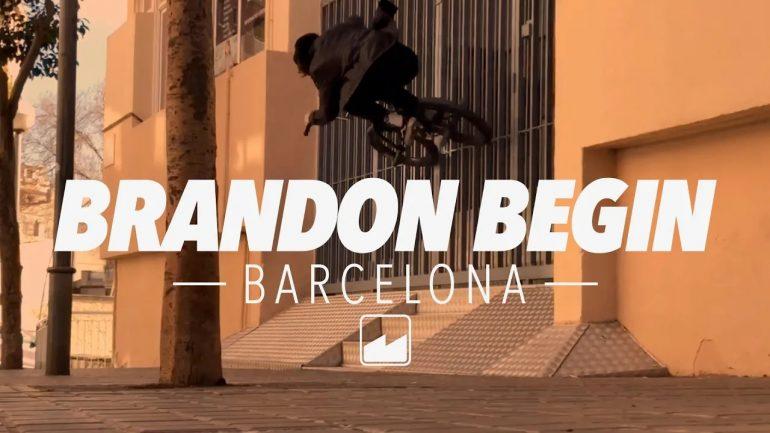 Brandon Begin w Barcelonie - Loked BMX magazine